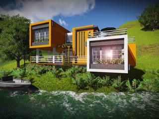 Casa en el Lago Casas de estilo minimalista de John J. Rivera Arquitecto Minimalista