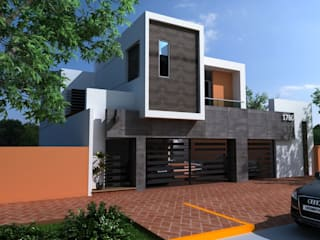 FACHADA PRINCIPAL: Casas de estilo  por OLLIN ARQUITECTURA