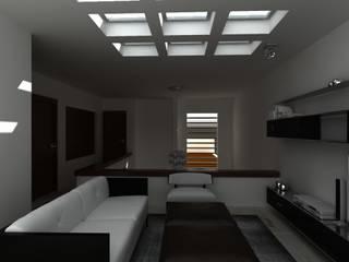 SALA TV: Salas multimedia de estilo  por OLLIN ARQUITECTURA