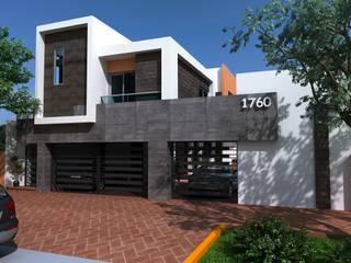 RESIDENCIA LAS FUENTES: Casas de estilo  por OLLIN ARQUITECTURA