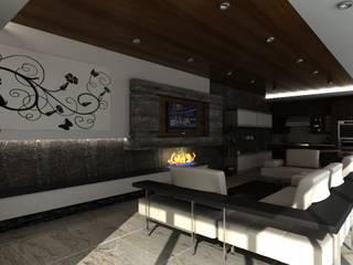TIEMPO DE CONSENTIRSE: Salas multimedia de estilo  por OLLIN ARQUITECTURA