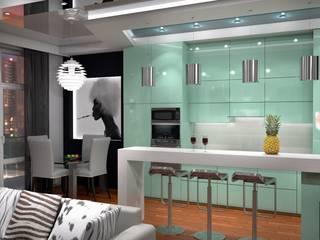 Дизайн - проект квартиры Кухня в стиле минимализм от Студия дизайна и проектирования ТОН Минимализм