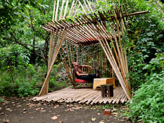 Eclectic style garden by cabanesdesign Eclectic Bamboo Green