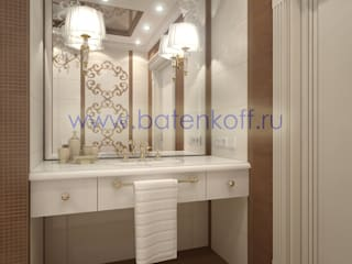 homify Classic style bathroom Wood Beige