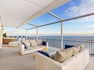 Monte Carlo Penthouse Vesta Vision Balcon, Veranda & Terrasse modernes