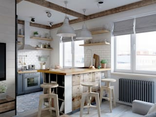 Scandinavian style kitchen by Elena Arsentyeva Scandinavian Wood Wood effect
