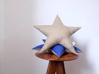 Coussin étoile géométrique et bleu:  de style  par Nayy
