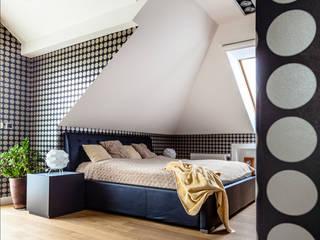 Ayuko Studio Dormitorios de estilo moderno Negro