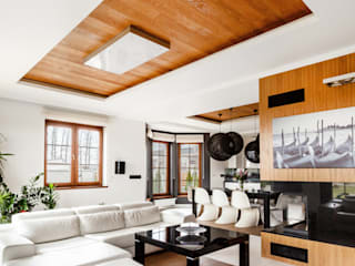 Ayuko Studio Salones de estilo moderno Acabado en madera