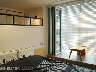 32평 초원대림아파트 리모델링 : 디자인브리드의  침실,
