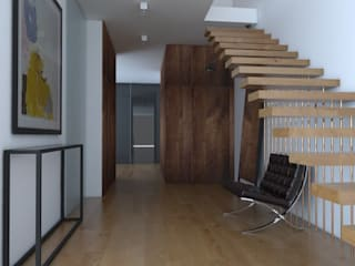 Modern Corridor, Hallway and Staircase by Sic! Zuzanna Dziurawiec Modern