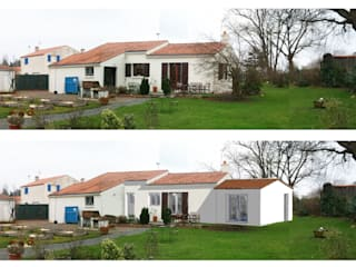 Réaménagement des espaces et extension d'une maison à Sainte Pazanne par VMB architecture conseils