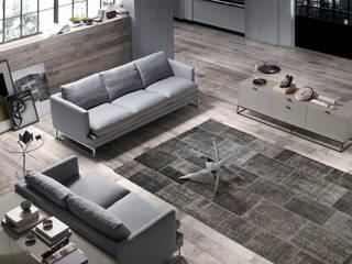 Ambientes modernos de salas de estar Modern environments of living rooms www.intense-mobiliario.com  Piatti II http://intense-mobiliario.com/product.php?id_product=8925:   por Intense mobiliário e interiores;