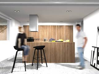 PROJEKT FUNKCJONALNEJ INNOWACYJNEJ KUCHNI.: styl , w kategorii Kuchnia zaprojektowany przez MO Architekci