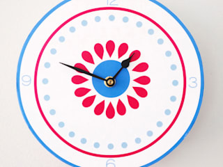 Reloj Círculo Azul de Kalma & Violeta Escandinavo