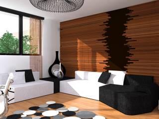 strefa wypoczynkowa: styl , w kategorii Domowe biuro i gabinet zaprojektowany przez Przytulne Wnętrze