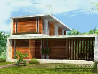 Modern houses by Arq Magdalena Saravia - Estudio de Arquitectura Sustentable - Modern