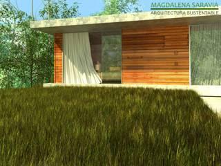 Modern style balcony, porch & terrace by Arq Magdalena Saravia - Estudio de Arquitectura Sustentable - Modern