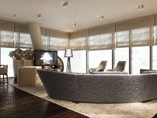 Apartament 26p Nowoczesny salon od Katarzyna Kraszewska Architektura Wnętrz Nowoczesny