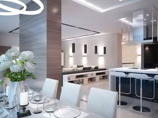 Кухня-гостиная: Гостиная в . Автор – 35KVADRATOV