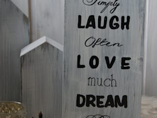 Wandschild Live, Laugh,Love,Dream:   von Meriland-Iris Meruna