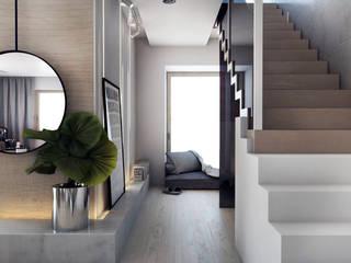 Moderner Flur, Diele & Treppenhaus von A2.STUDIO PRACOWNIA ARCHITEKTURY Modern