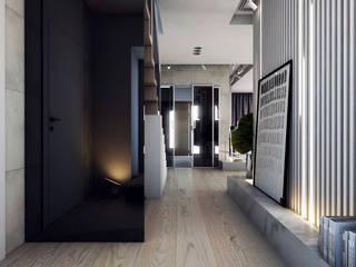 Corredores, halls e escadas modernos por A2.STUDIO PRACOWNIA ARCHITEKTURY Moderno