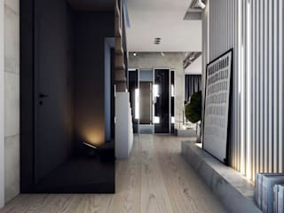Modern corridor, hallway & stairs by A2.STUDIO PRACOWNIA ARCHITEKTURY Modern