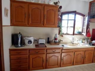 Relooking cuisine ancienne en bois sombre 2nd Chance Créations