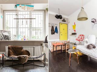 Ayuko Studio Pasillos, vestíbulos y escaleras de estilo ecléctico