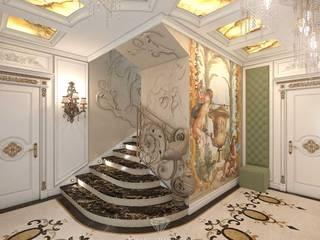 Pasillos, vestíbulos y escaleras de estilo moderno de Студия дизайна интерьера Руслана и Марии Грин Moderno