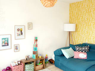 LYBSTES. Scandinavian style living room Yellow