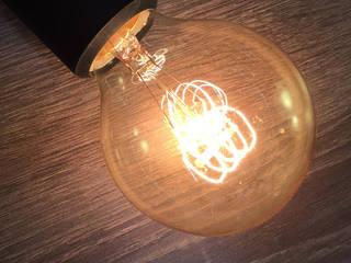 Edison light, Retro-Leuchtmittel: industriale Wohnzimmer von homify