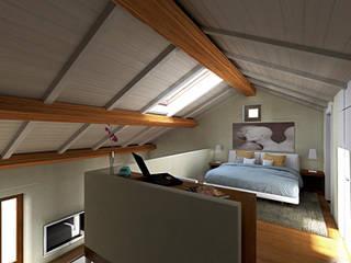 Nuovo Loft: Camera da letto in stile in stile Moderno di AAA Architettura e Design