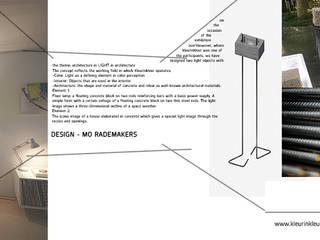 licht in Architectuur in licht:   door KleurInKleur interieur & architectuur, Minimalistisch