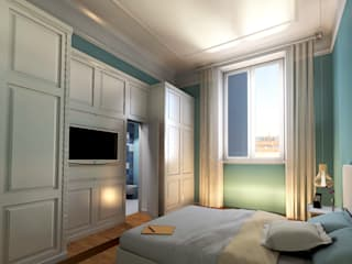 Virtual home staging case private: Camera da letto in stile in stile Moderno di AAA Architettura e Design