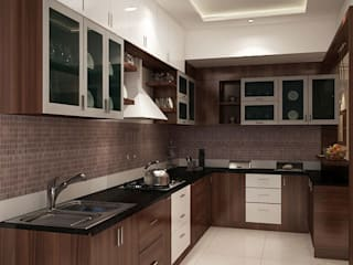 4 bedroom apartment at SJR Watermark:  Kitchen by ACE INTERIORS