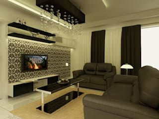 Living room by ACE INTERIORS