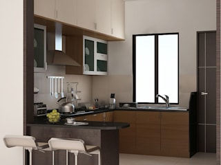 Apartment at Adarsh Palm Retreat:  Kitchen by ACE INTERIORS