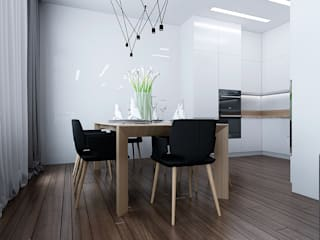 ЖК Карасьеозерский Столовая комната в стиле минимализм от TrioDesign Минимализм