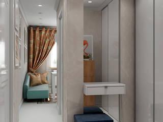 Квартира с орнаментом Коридор, прихожая и лестница в эклектичном стиле от TrioDesign Эклектичный