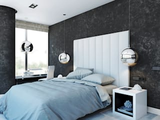 Eclectic style bedroom by TrioDesign Eclectic