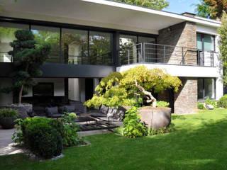 Schöner und ästhetischer Garten, das ganze Jahr lang Moderne Häuser von Ecologic City Garden - Paul Marie Creation Modern