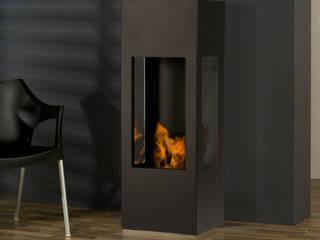 prism fire Opti-myst (heat): moderne Wohnzimmer von muenkel design