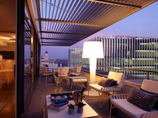Susana Camelo Balcones y terrazas de estilo moderno Azul