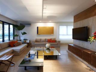 Apartamento Moema Salas multimídia modernas por Luciana Savassi Guimarães arquitetura&interiores Moderno