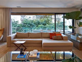 Apartamento Moema Salas de estar modernas por Luciana Savassi Guimarães arquitetura&interiores Moderno