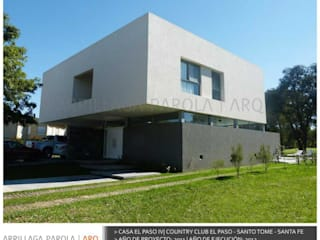 Casa El paso IV Modern Evler ARRILLAGA&PAROLA Modern