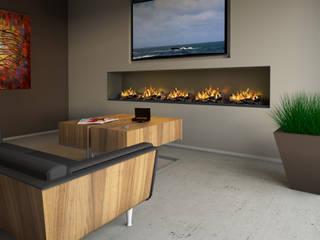 wall fire: modern  von muenkel design - Elektrokamine aus Großentaft,Modern