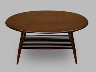 Table basse ovale Ercol:  de style  par Tcha-tcha-tcha